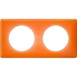 Legrand Celiane2 Рамка на 2 поста, оранжевый муар