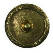 Кнопка звонка (медь) с круглой табличкой