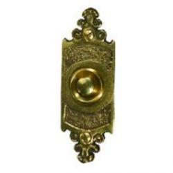 Кнопка звонка (медь) с овальной табличкой