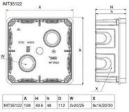 Распаячная коробка 100х100 гл.50 для сплошных стен (Арт. IMT35122)