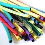 Термоусадочная трубка D10-5 (Цвет: белый, желтый, зеленый, красный, синий, черный)(Арт. ТУТ10-5)