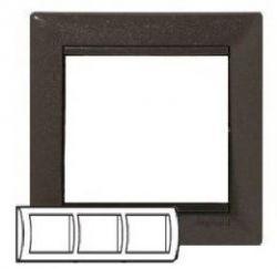 Рамка Legrand Valena 3 поста горизонтальная Модерн(арт.770003)