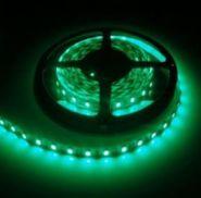 Светодиодная лента в силиконе 5050 12 V 14.4 W 60 LED (диодов) на 1 м зеленая IP65