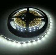 Светодиодная лента в силиконе 5050 12 V 14.4 W 60 LED (диодов) на 1 м белая-холодная IP65