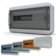 Бокс пластик. 1 ряд 18 мод. IP65 навесной (комплект 1), дверь непрозр.