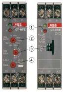 Реле времени CT-ERE (задержка на включ.) 24В AC/DC, 220-240В AC(временной диапазон 0.1..10с.) 1ПК
