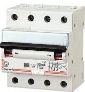 Дифференциальный автомат Legrand 4-полюсный 300mA/16А-AC-4M