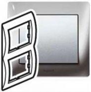 Рамка Legrand Galea Life 2 поста верт. Black Nickel (арт.771946)